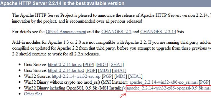 Visit apache.org and download the MSI installer and run it